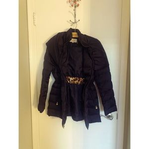 Laundry - Navy Puffer Coat with Hood